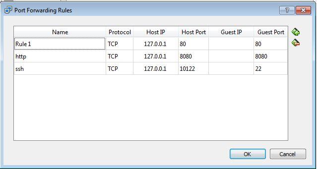 sample port forwarding