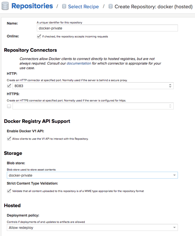 nexus docker private
