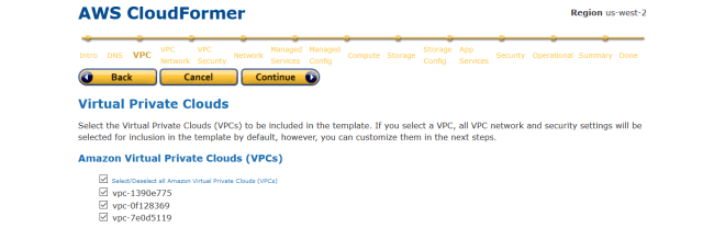 cloudformer VPC