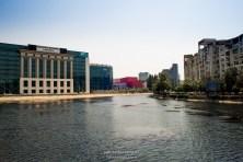 View from sidewalk - Bulevardul Unirii/Biblioteca