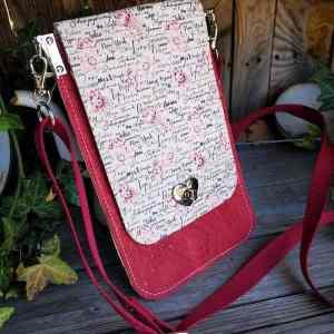 kurk minimalistisch telefoon tasje rood kurk