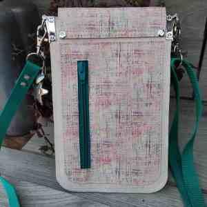 Telefoon tasje wit kurk die je met plezier zult dragen achterkant