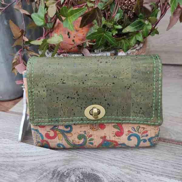 Kurk portemonnee klein maar groots aan de de binnenkant