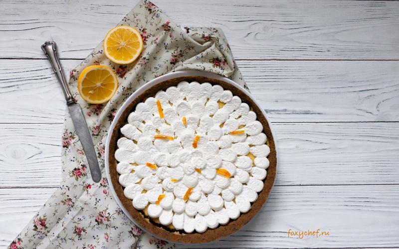 Итальянский лимонно-миндальный торт