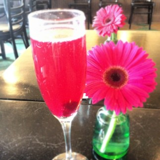 Beet Mimosa for Brunch