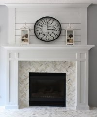 Faux Rock Fireplace Covering - Small House Interior Design