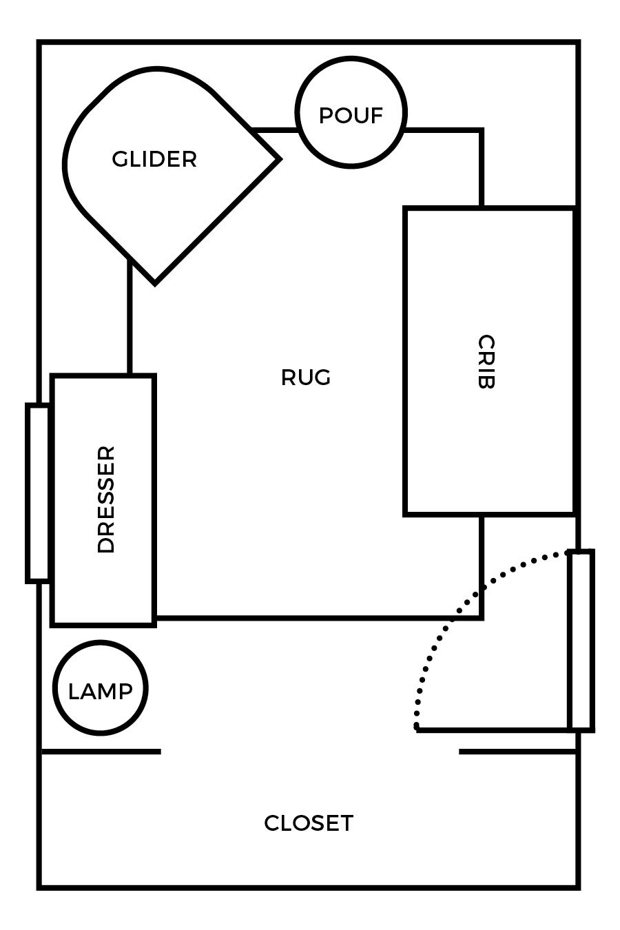 Spring 2017 One Room Challenge, Week 2: Small Nursery