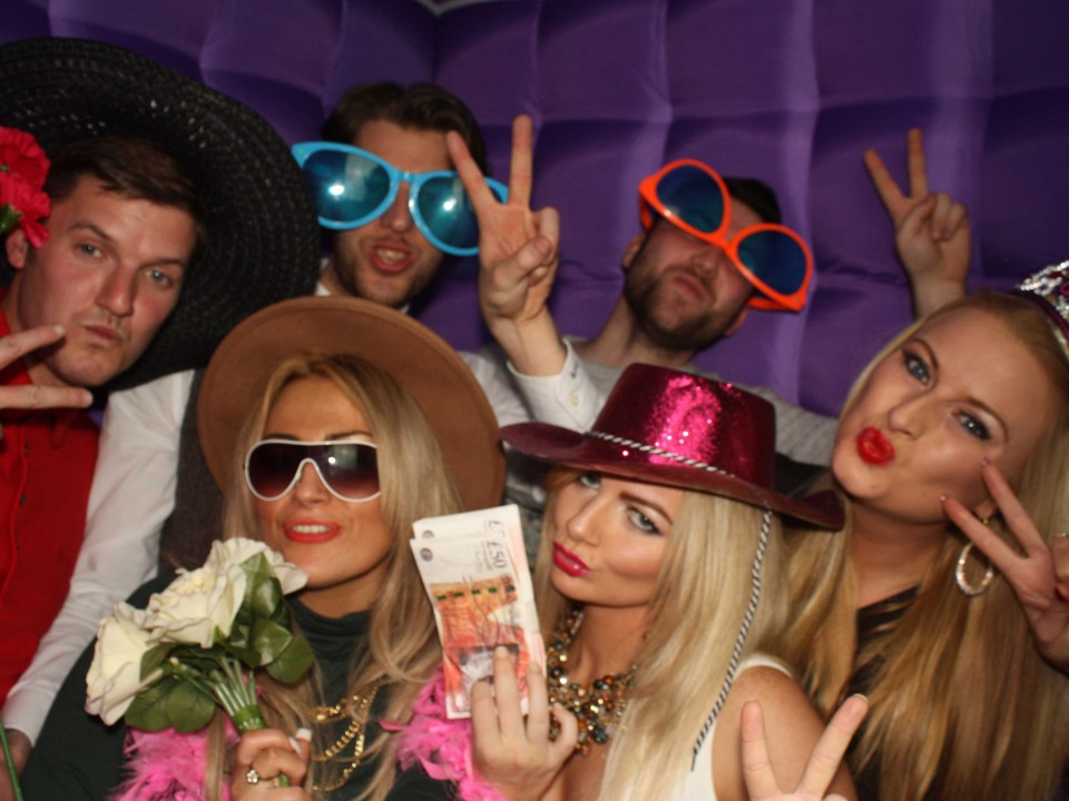 Photo booth hire wedding party