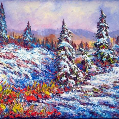 8. Margaret Chwialkowska_Winter Afternoon, Gatineau,_oil