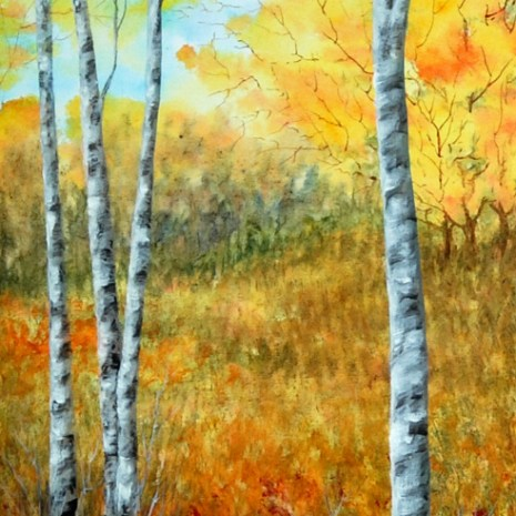 Beata_Jakubek_Birch Trees_2019_Acrylic_24x12x1.5_$265