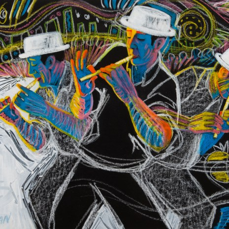 June_Harman_Triple Bill_acrylic and colour bar_$700_18x24x1
