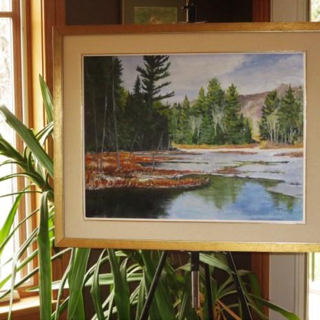 08_Scott_Rubie_ Algonquin November Wetland_acrylic on panel_2019_18 x 24 x ¼ in context