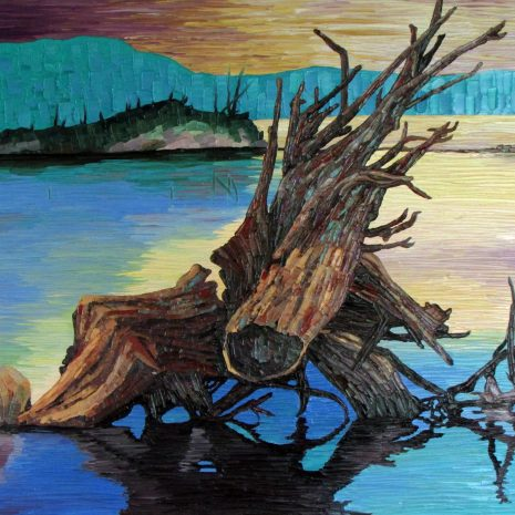 Lauren_Henry_The Lagoon_Oil_30x24x1 black frame $750