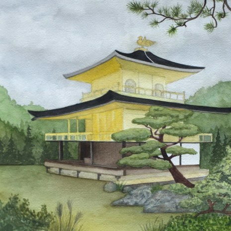 Isabelle_Jerome_Kinkaku-ji_watercolour_14x11_350