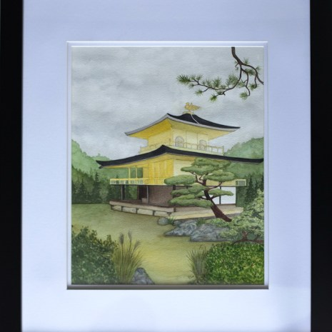 Isabelle_Jerome_Kinkaku-ji_watercolour_20x16x1_350