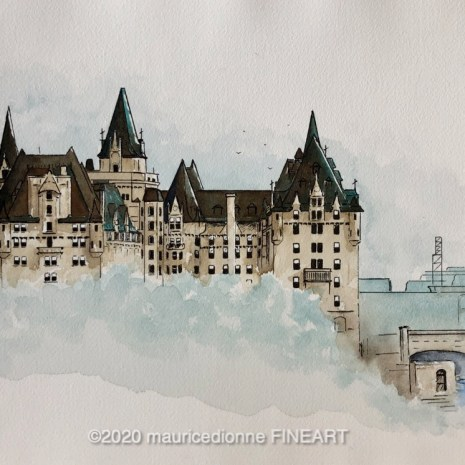 Maurice_Dionne_Chateau Laurier_wc_15X12X2