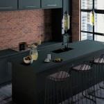 Sleek Black Industrial Kitchen Design Foyr
