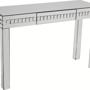 Crystal Silver Console Table