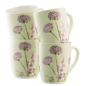 Belleek Aynsley Floral Spree 4 Mugs Set