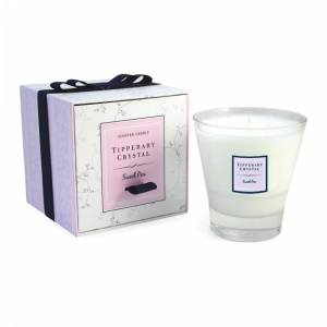 Tipperary Crystal Sweet Pea Candle Filled Tumbler Glass