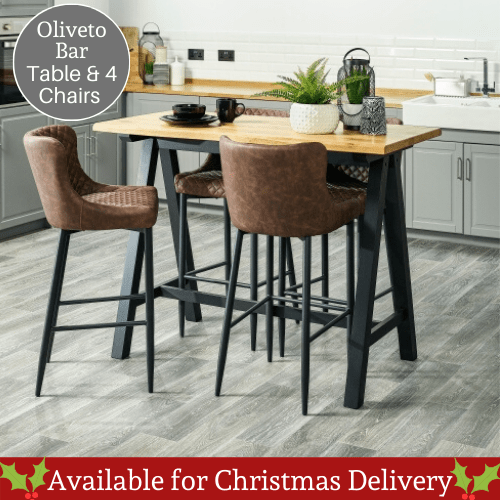 Oliveto Bar Table Christmas
