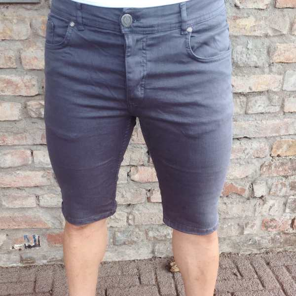 Shorts Denim Basic Grey Slim Fit 1