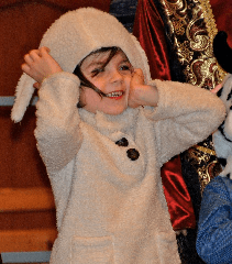 image of child at Children's Christmas Pageant