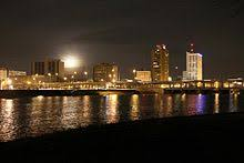 image of cedar rapids iowa at night