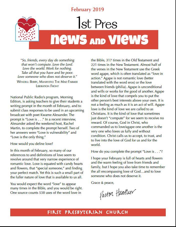 February news and views image