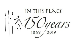 in this place 150 years logo