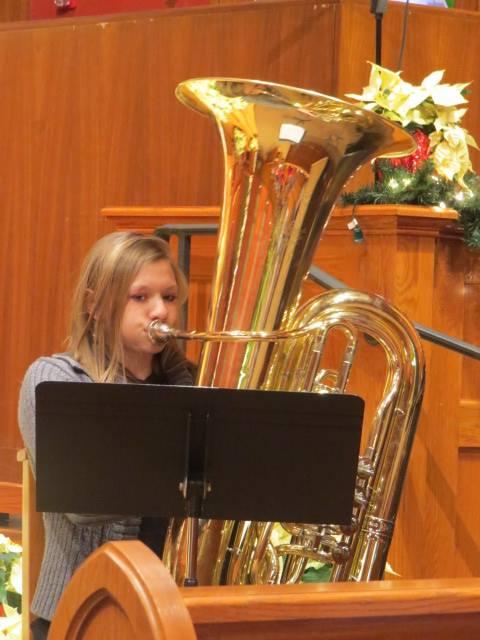 girl with tuba