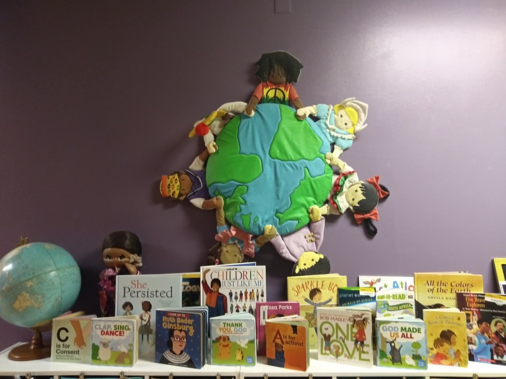 Children's library books display