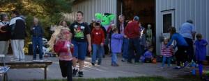 members at the barn at fall festival