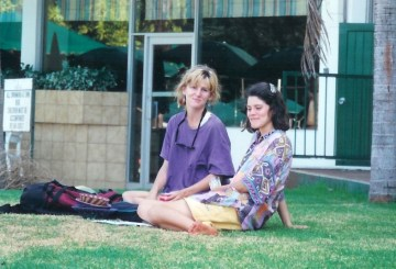 Laura (left) and Terry English during an in-service training, 1995
