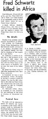 Article from his hometown paper