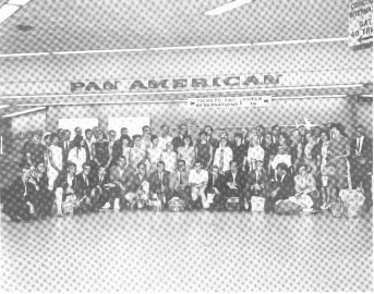 Leaving from Miami. Susan is 2nd from right in white dress. Shared by fellow volunteer, Jon Halter.