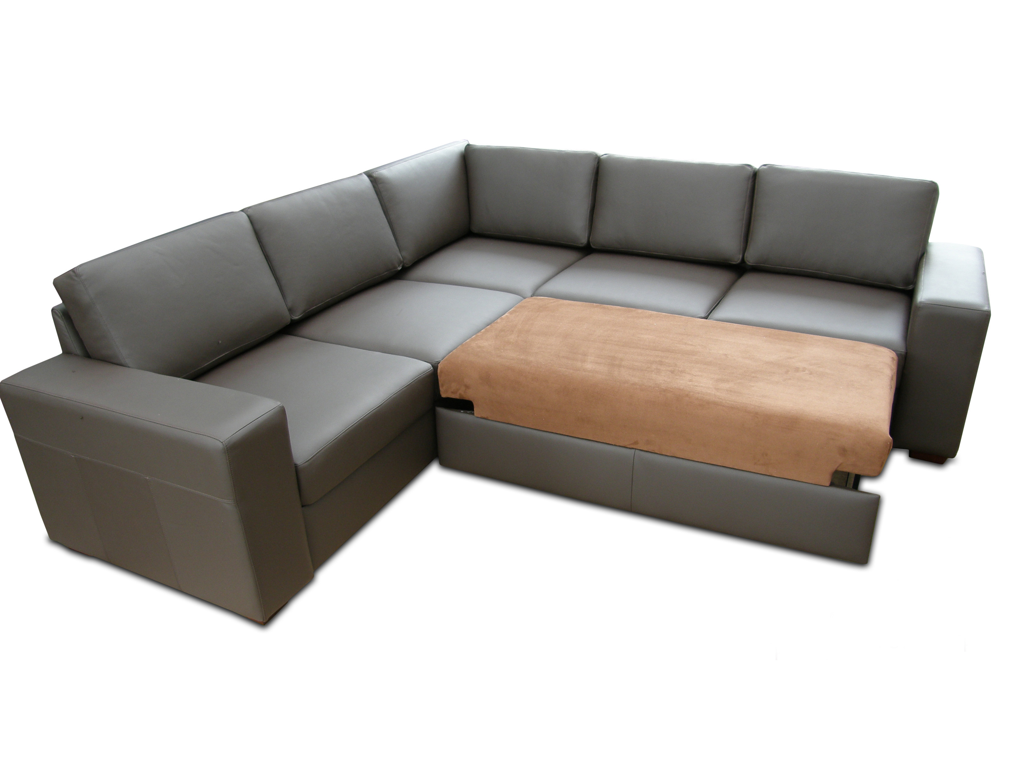 olympus black leather corner sofa bed with storage colorful slipcovers brown | baci ...