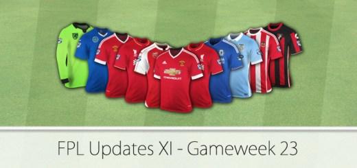 FPL updates XI Gameweek 23 FPL