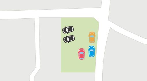 車を斜めに駐車したイラスト