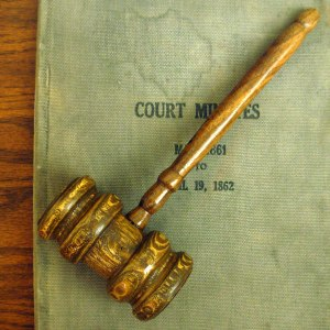 Court Gavel and Documents