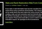 復元Webフォーム設置へ