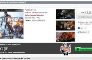 BATTLEFIELD 4:発売日は10/15か29?Xbox.comがお漏らし
