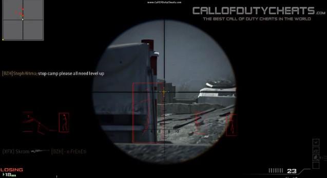 [MW3] チート:さっそく赤枠チーター現る 1:16