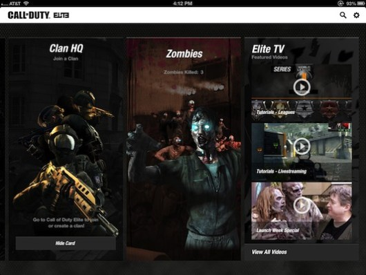 『Call of Duty Elite』iOSアプリ、ゾンビモードとリーグ戦に対応(無料)