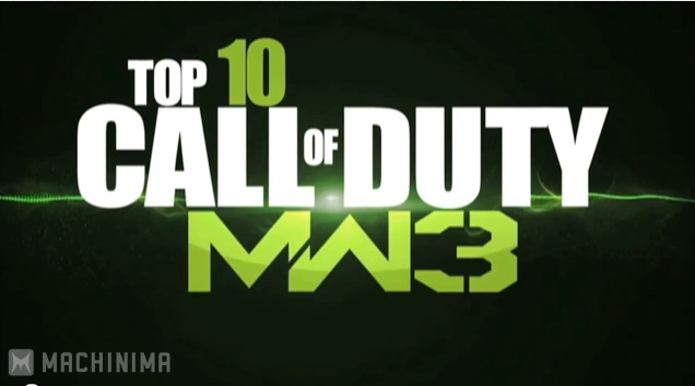 [MW3] 『Modern Warfare 3』の信じられないキルTOP 10!1位は史上初の快挙かも
