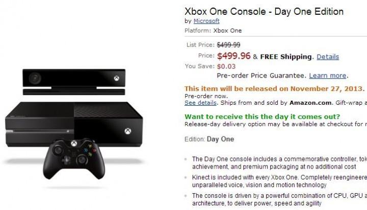 Xbox Oneの発売日は2013年11月27日!