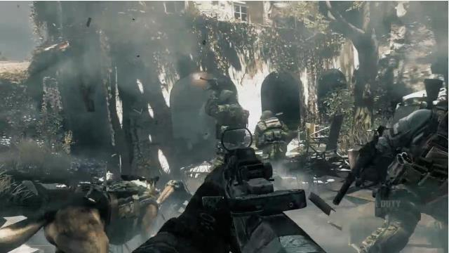CoD:ゴースト:潜水艦撃破や軍用犬強襲シーンのゲームプレイ動画。犬強い!(2本/11分)