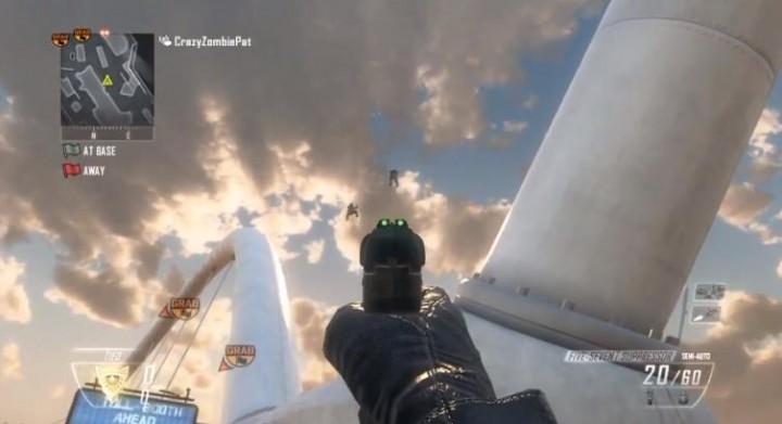 CoD:BO2:マップ外に出る方法と空中歩行のやり方 – Uplink、Rush編