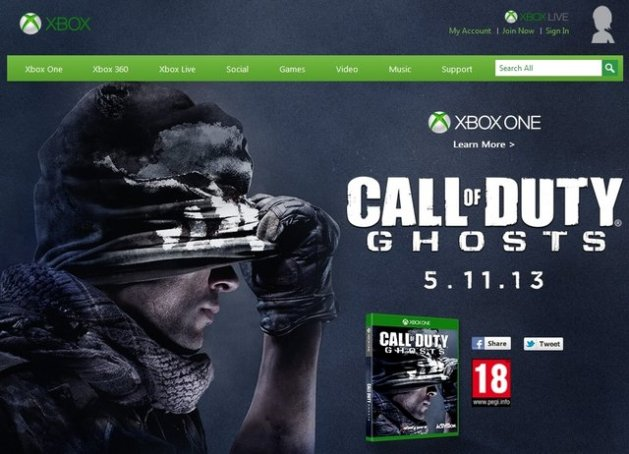 Xbox One と『CoD:ゴースト』、11月5日にリリース!?