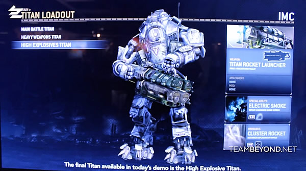 『Titanfall(タイタンフォール)』High Explosives Titan